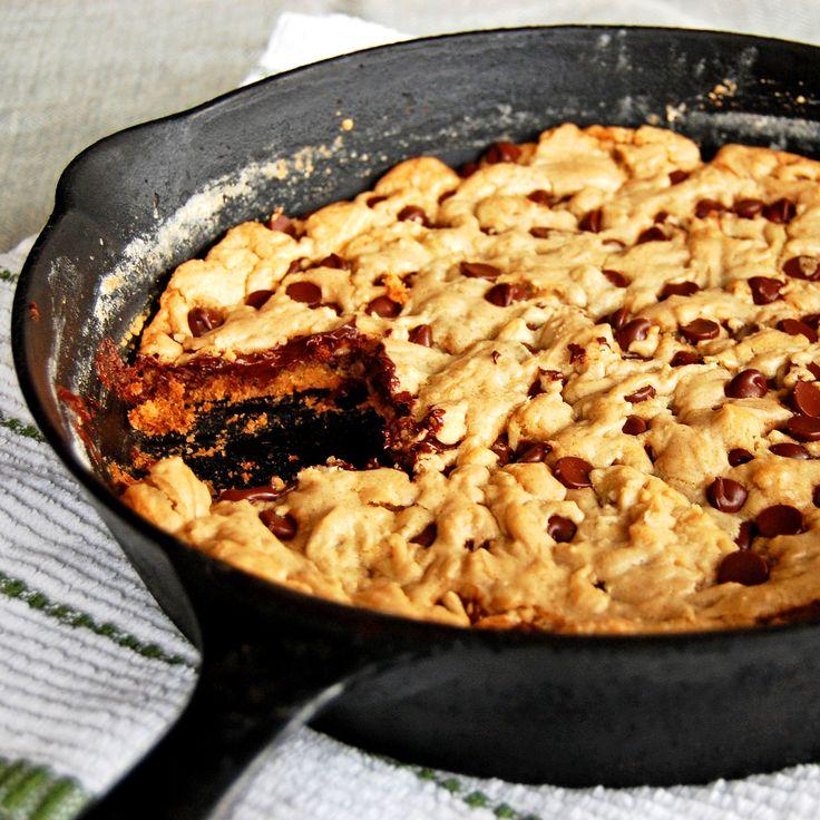 Chocolate Chip Skillet Cookie | Cookies, Bars, Brownies, etc. | Pinte ...