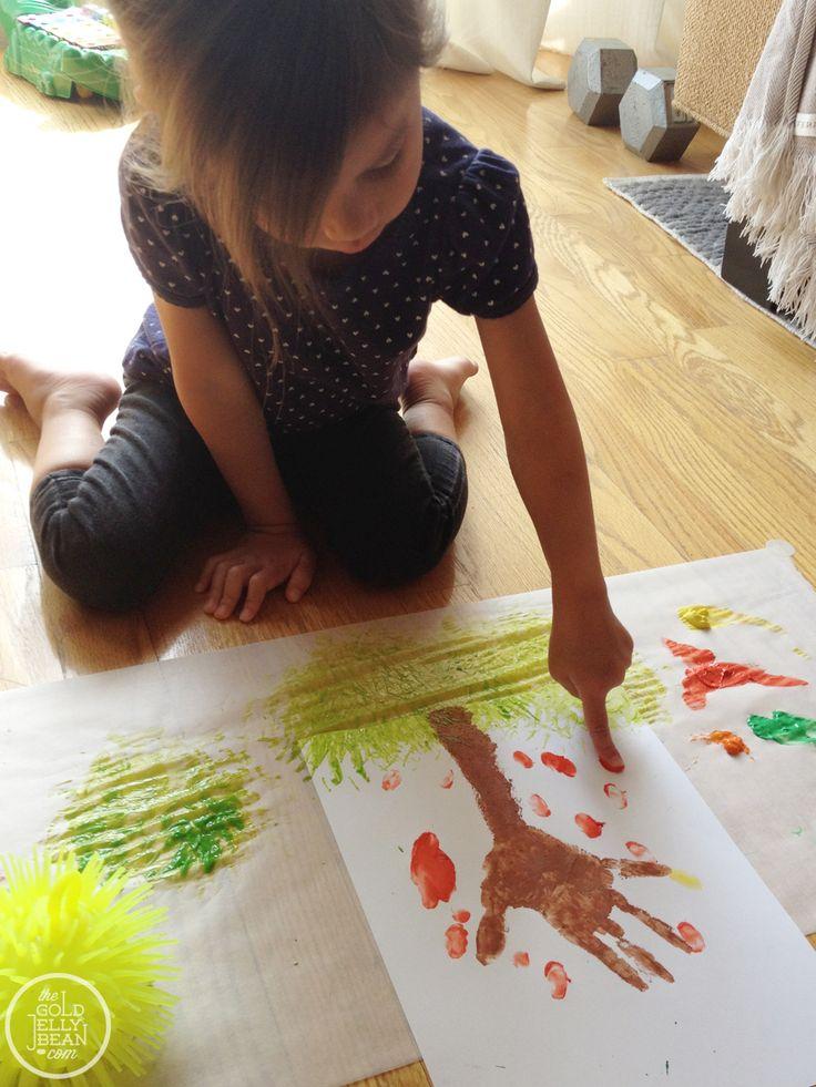 Hand Print Trees : Fall Art, Kids Craft