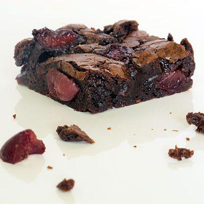 cherry and chocolate brownies | Fooood | Pinterest