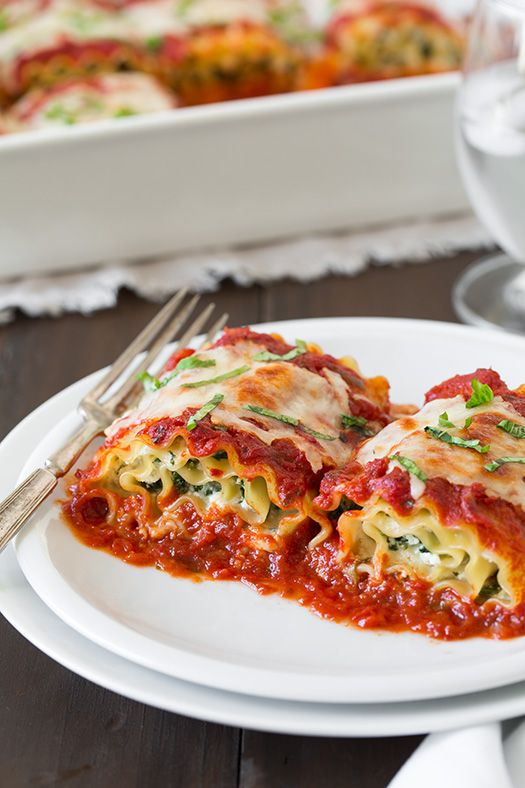 Spinach Four Cheese Lasagna Roll Ups Recipe ~Quick and Easy dinner ...