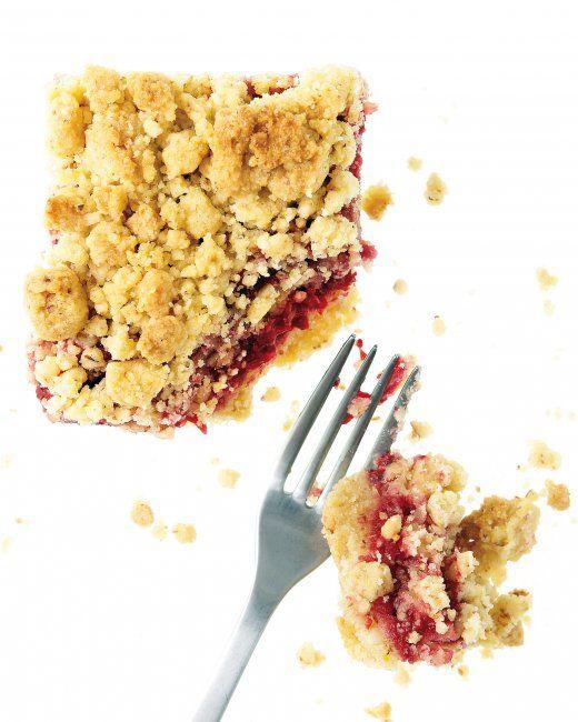 Raspberry Cornmeal Crumble Bars   Recipe