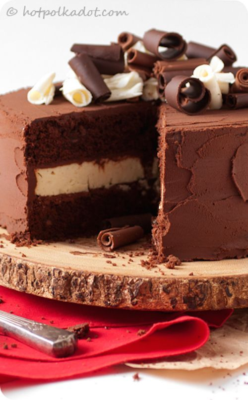Death By Chocolate Cheesecake Cake | Cakes | Pinterest