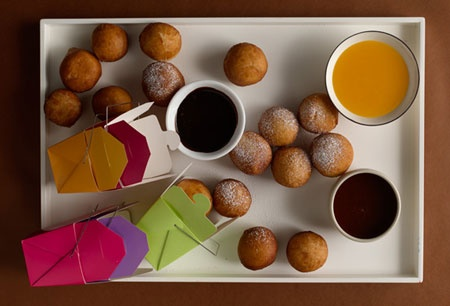 Bomboloni with Chocolate Espresso, Whisky Caramel, and Clementine ...