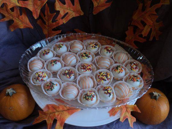 12 PUMPKIN SPICE Cake Balls Cake Truffles Cake by CakeWorksbyJen, $9 ...