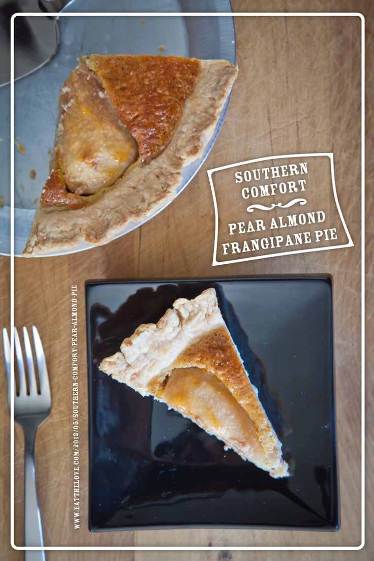 Southern Comfort Pear Almond Frangipane Pie. Recipe and Photo by Irvin ...
