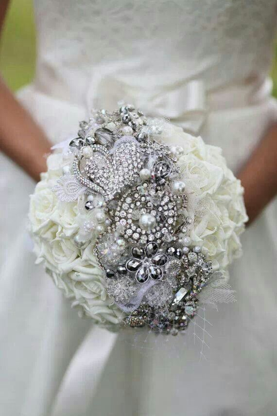 Bridal Flowers With Bling : Gorgeous bling wedding bouquet may