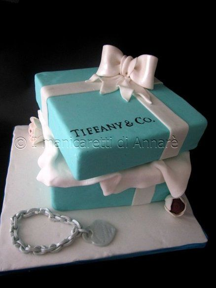 Tiffany Blue Cake Design : Pinterest