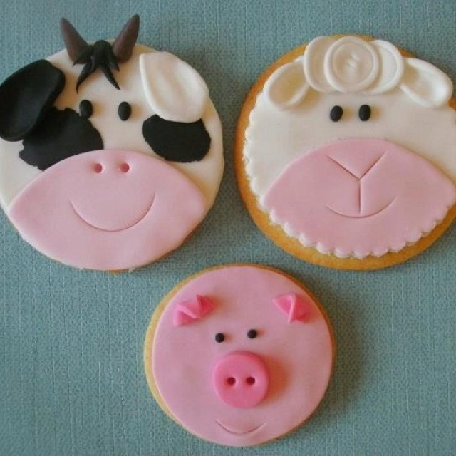 farm animals cake decorating projects pinterest