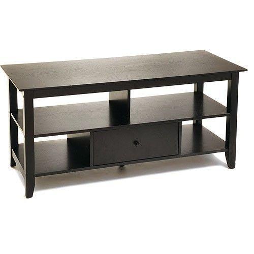 tv stand 46 shelves entertainment center livingroom. Black Bedroom Furniture Sets. Home Design Ideas