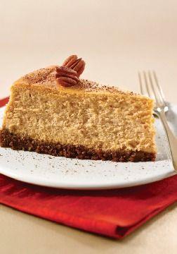 – Fluffy pumpkin cheesecake with a buttery gingersnap crust ...