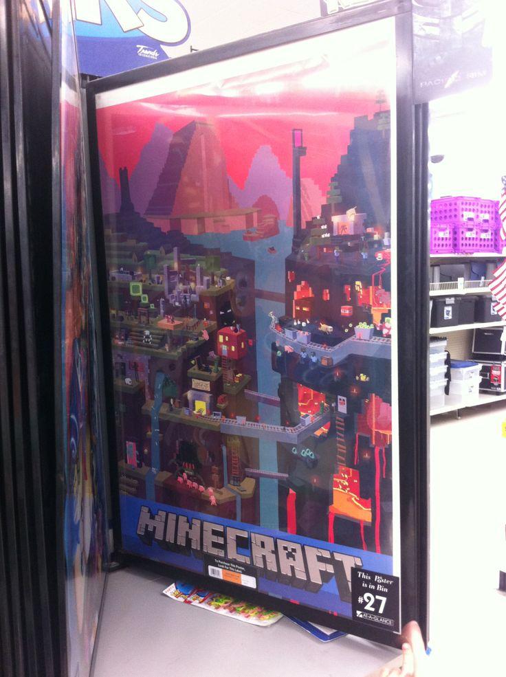 Minecraft poster @Walmart (Sam) | Gift Ideas | Pinterest