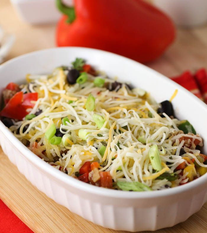 Mexican Quinoa Casserole - using low fat cheese and a less oil, no ...
