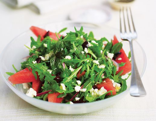 Watermelon, Arugula, Feta and Mint Salad (great for curing morning ...