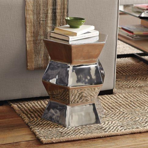 Aluminum Hexagon Side Table  $149.00 inspiration
