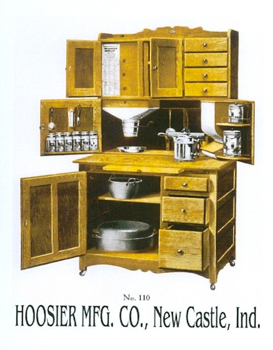 Hoosier Cabinet Because It Has A Flour Dispenser A Lot Of Kitchen