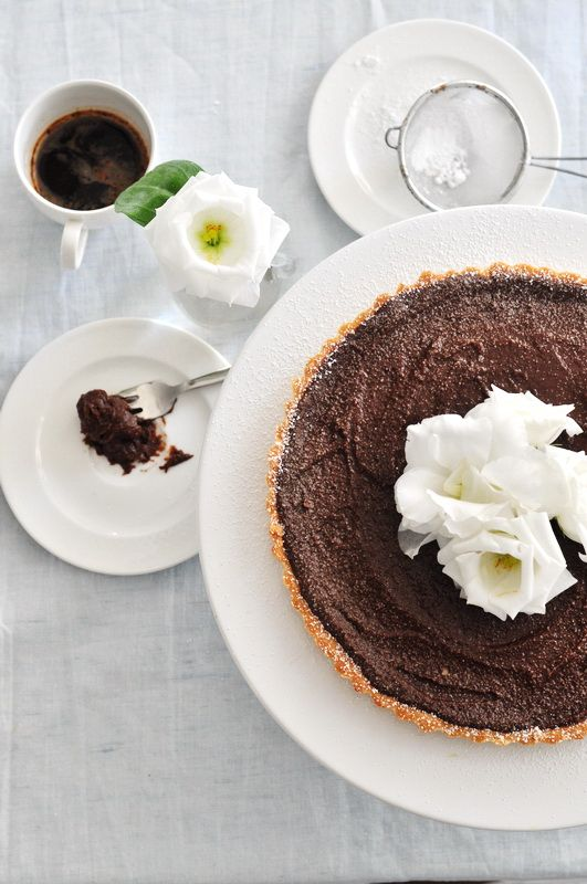 Double chocolate tart | De-licious | Pinterest