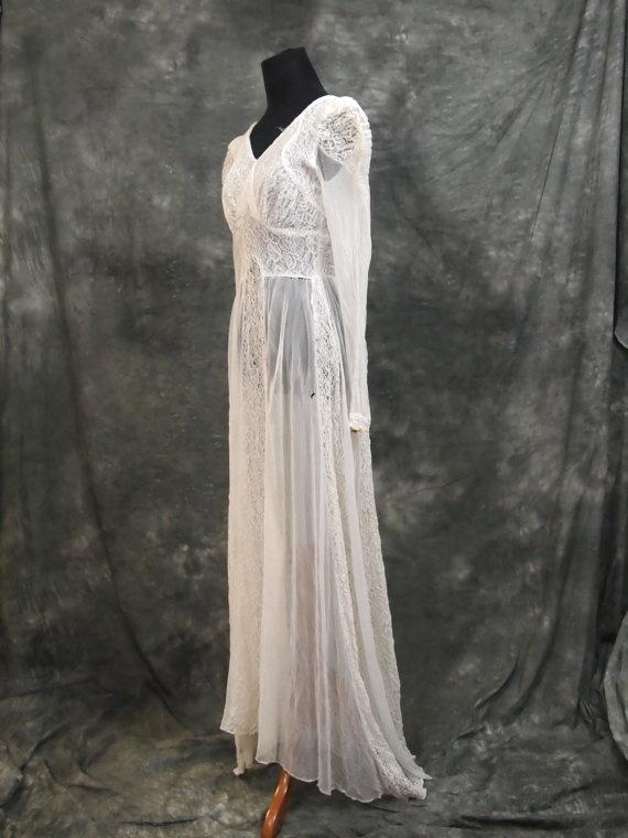 Vintage lace gown vintage wedding dress pinterest
