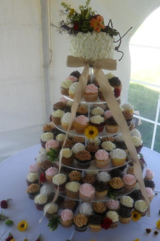 More like this: field flowers , ruffle cake and cupcake towers .