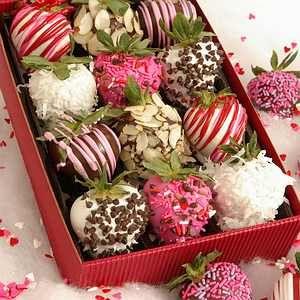 Chocolate covered strawberries!  YUM