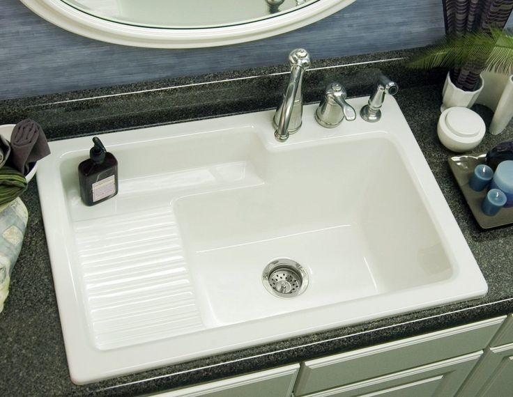 CorStone Industries Advantage Series Hamilton Self-Rimming Laundry Si ...