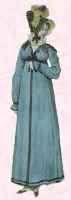 1812 Regency Pelisse Coat - Broad Collar