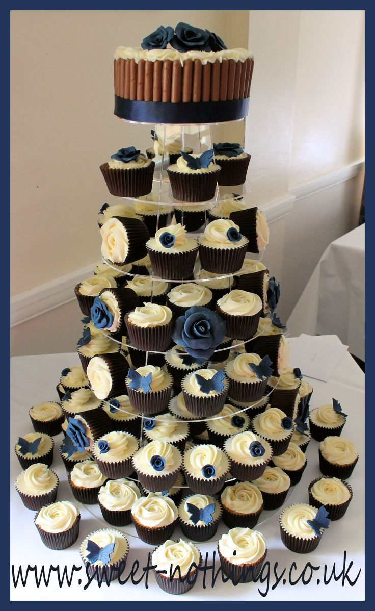 Pin Decorating Navy Blue Wedding Flowers New Jersey Cake ...