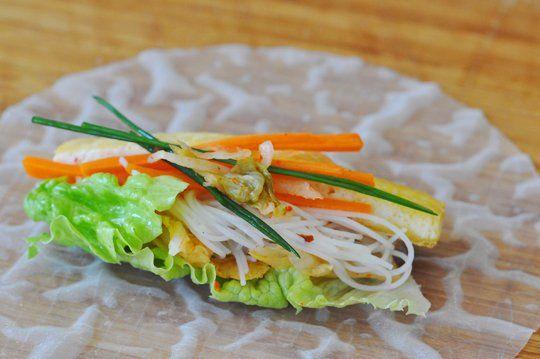 Kimchi Tofu Summer Rolls | Recipe