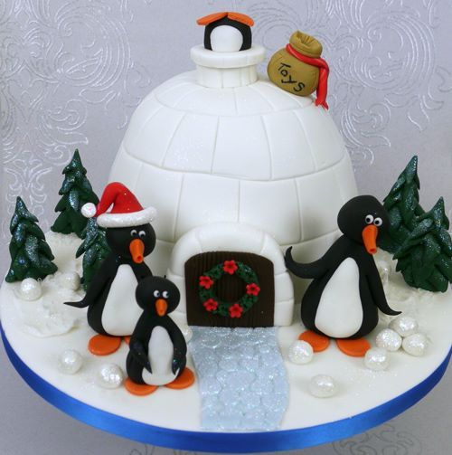 Christmas Cake Decorations Penguins : Penguin christmas cake all about quot food