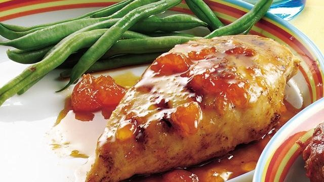 Apricot-Glazed Chicken Breasts | food and drinks | Pinterest