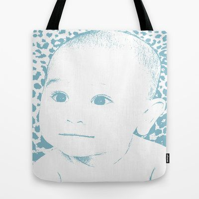 baby look up tote bag by grazemee. Black Bedroom Furniture Sets. Home Design Ideas