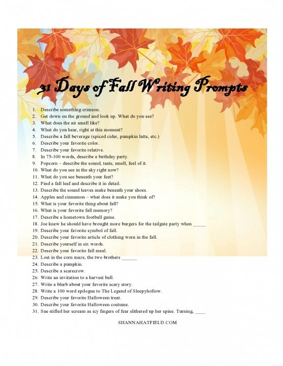 fall writing topics Free fall writing prompts and notebook pages to help your student get ready for the season changes geared towards ages 8-12 enjoy.