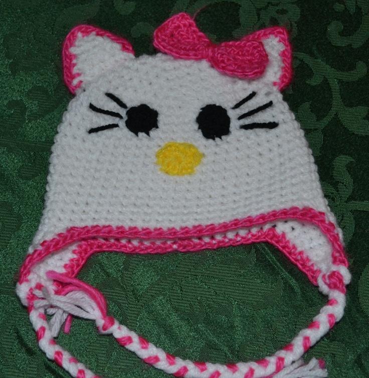 Hello Kitty Hat Crochet Ive Done Pinterest