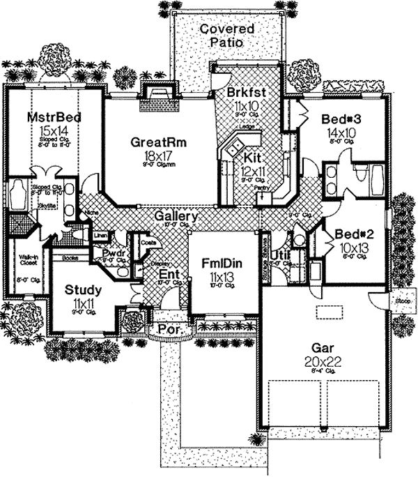 3 Bedroom House Plan With Optional 4th