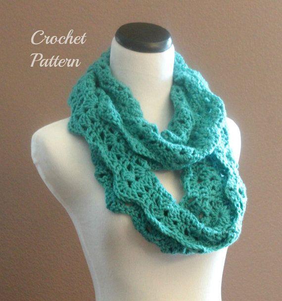 ... SALE Crochet PATTERN Pdf Chunky Crochet Infinity Scarf Pattern