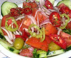 Greek recipe – greek food recipes and cooking – Mixed summer salad –