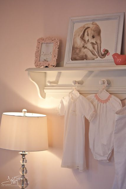 hanging shelf to display heirloom dresses