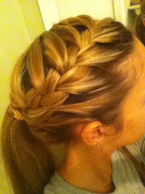 french braid ponytail to do pinterest