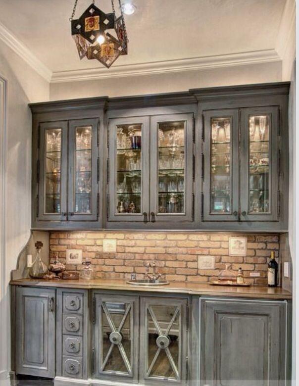 Thin brick backsplash thin brick pinterest for Brick wallpaper ideas for kitchen