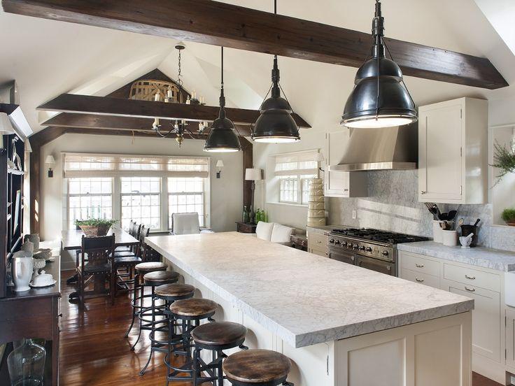 Nantucket kitchen with dark wood accents nantucket style for Nantucket style kitchen
