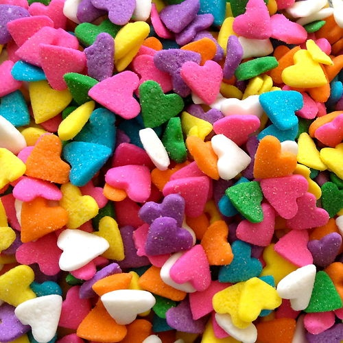 Cake Decorations And Sprinkles : 40g PASTEL HEART SHAPED SPRINKLES - edible cupcake cake ...