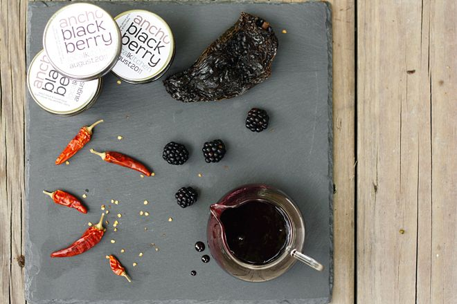 chile blackberry syrup (+ bonus spicy booze!)