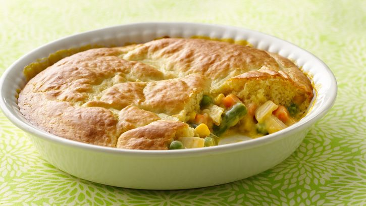 Impossibly Easy Chicken Pot Pie-substitute turkey for use of leftovers ...