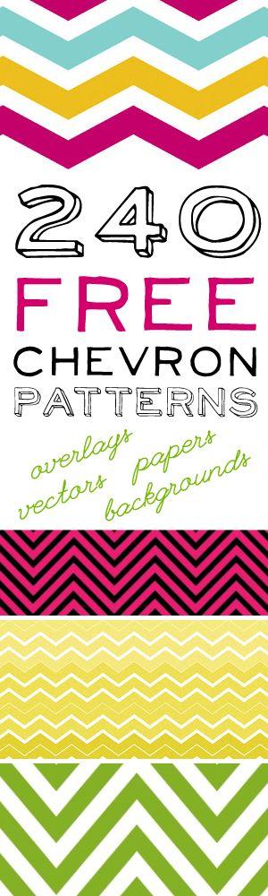 240 Free Chevron Patterns!