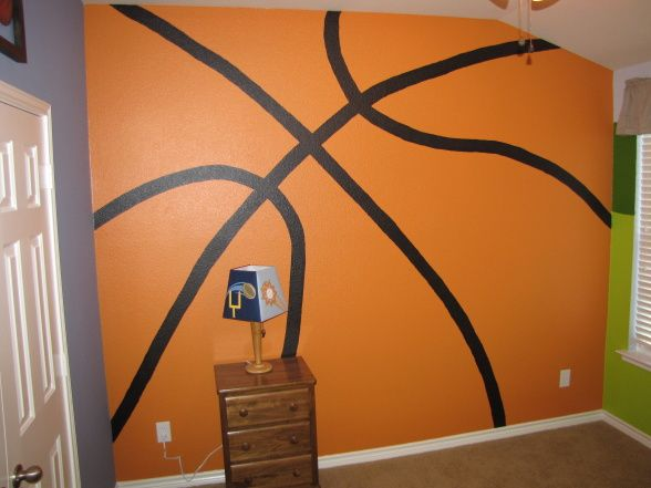 Pin by janet hubbell on home pinterest for Basketball mural