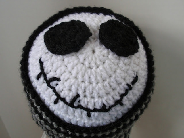 Free Crochet Pattern Of Jack Skellington : jack skellington crochet hat