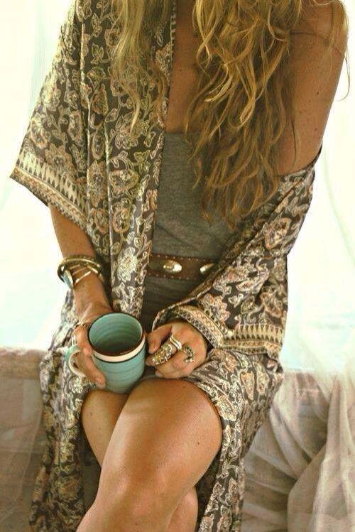Love the boho kimono! | Style | Pinterest