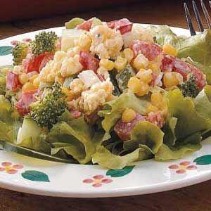 Crisp Corn Bread Salad   Recipe
