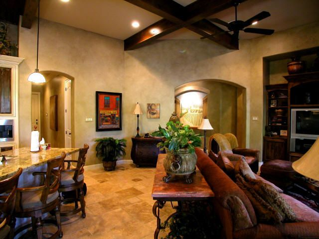 tuscan family room home decor pinterest
