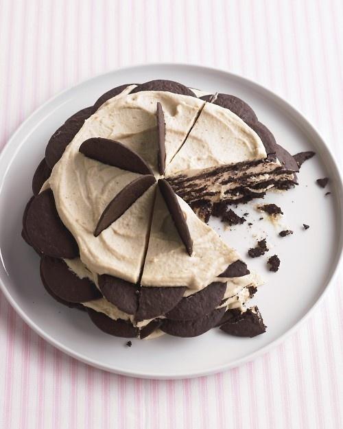 Chocolate Peanut-Butter Icebox Cake | recipes | Pinterest