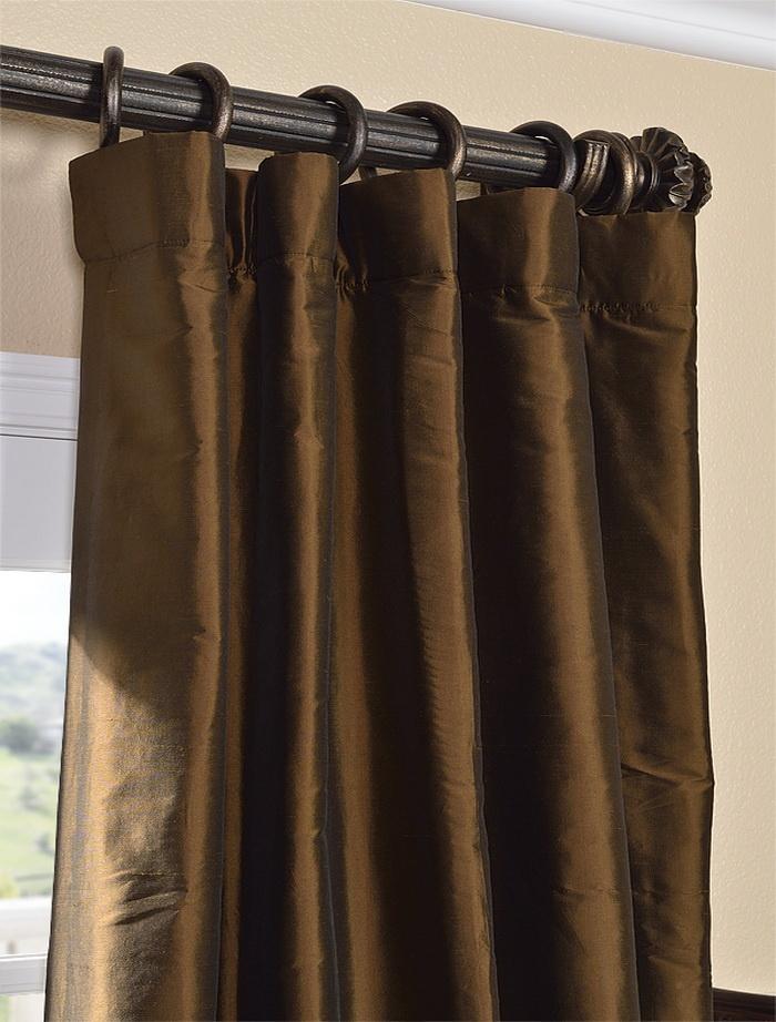 Chocolate brown thai silk curtain home pinterest